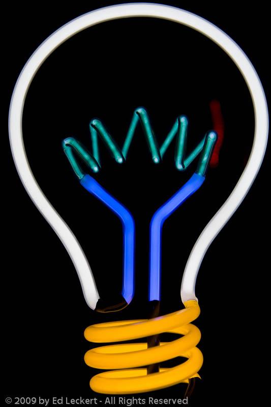 Light Bulb Neon Sign, Seattle, Washington