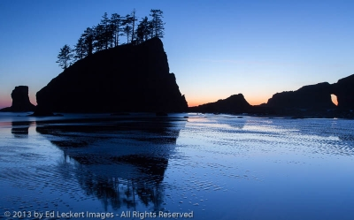 Crying Lady Rock and Natural Arch, Second Beach, Olympic National Park, Washington