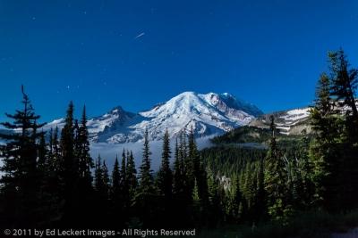 Mount Rainier by Moonlight, Mount Rainier National Park, Washington