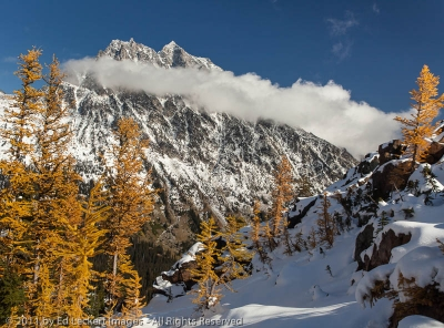 Mount Stuart in Clouds, Alpine Lakes Wilderness, Washington