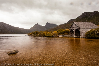 Stormy Day at the Boatshed, Cradle Mountain-Lake St Clair National Park, Tasmania, Australia