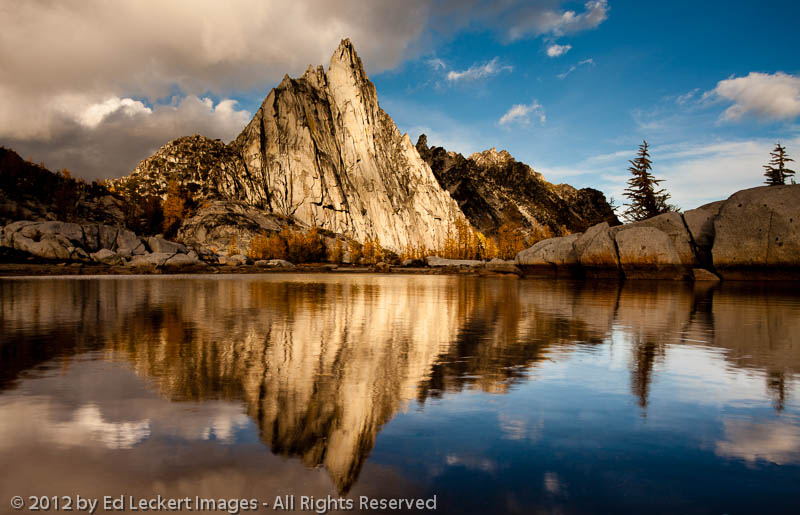 Prusik Peak Reflection at Sunset, Alpine Lakes Wilderness, Washington