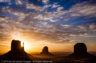 The Mittens at Sunrise, Monument Valley, Arizona