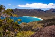 Wineglass Bay from the Lookout, Freycinet National Park, Tasmania, Australia