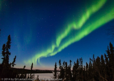Aurora Over Prelude Lake, Northwest Territories, Canada