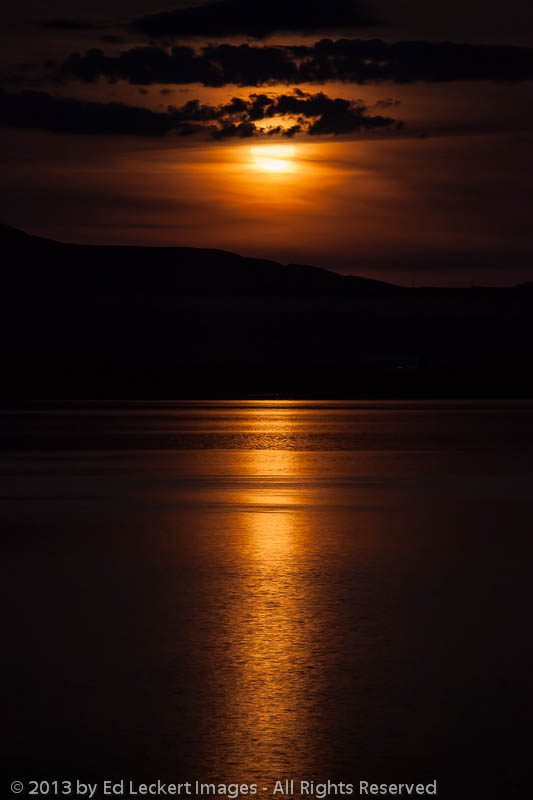 Full Moon on the Lake, Brewster, Washington