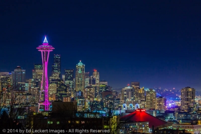 Seattle at Night, Seattle, Washington