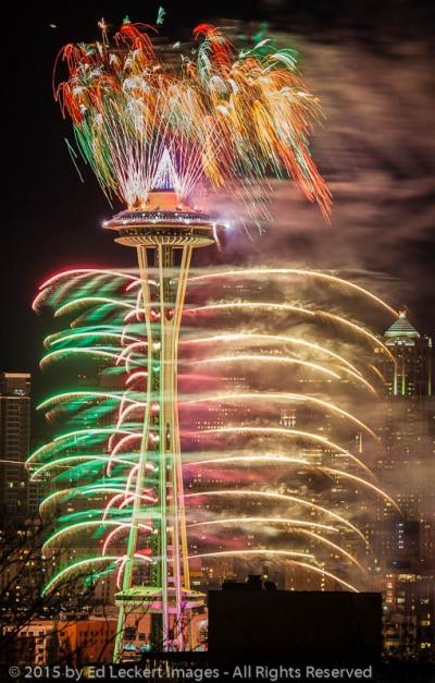 Space Needle Firestorm, Seattle, Washington
