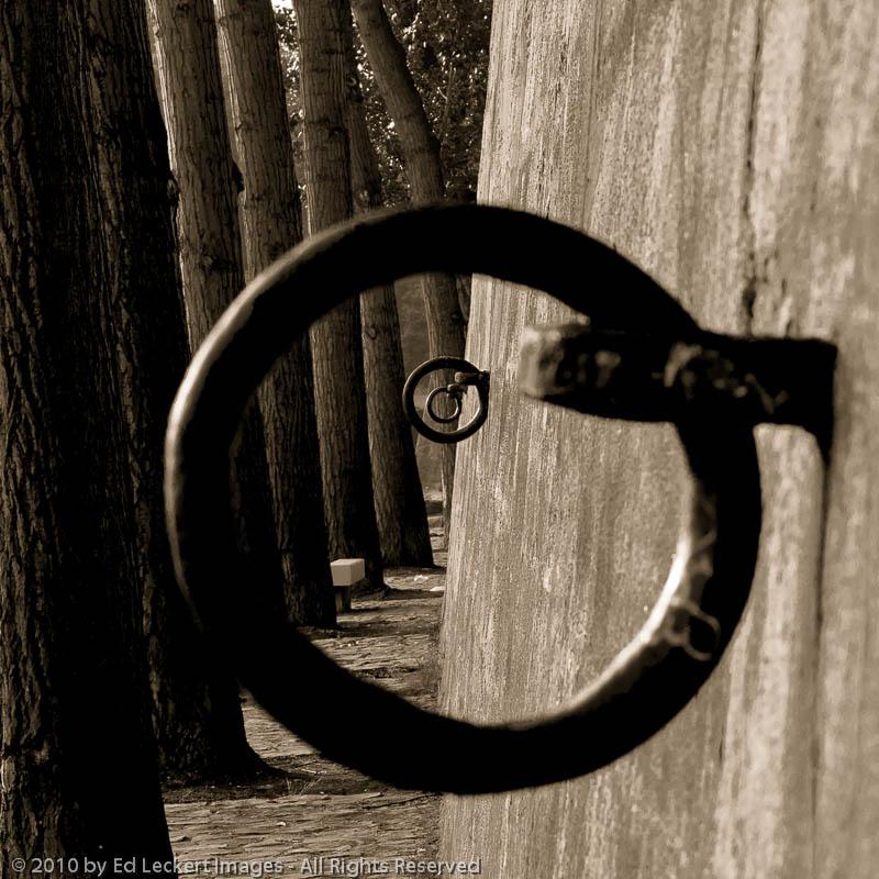 Mooring rings along the Quai d'Anjou, Paris, France