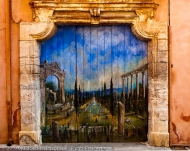 Mural on a Street Corner, Roussillon, France.