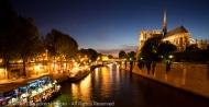 Notre Dame de Paris and the Seine River, Paris, France