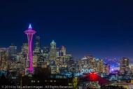 Seattle at Night, Seattle, Washington