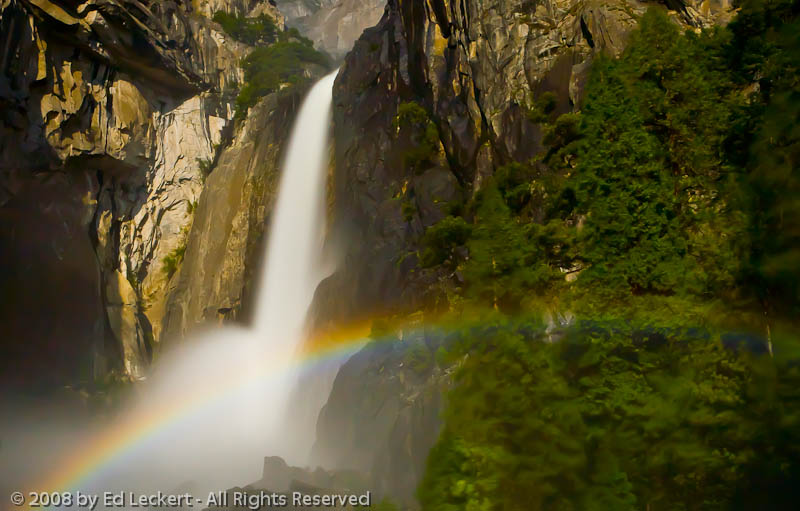 """Moonbow"" at Lower Yosemite Falls, Yosemite National Park"