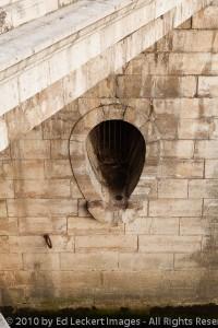 Sewage outlet along the Seine, Paris, France