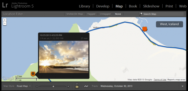 Adobe Photoshop Lightroom 5 Map Module
