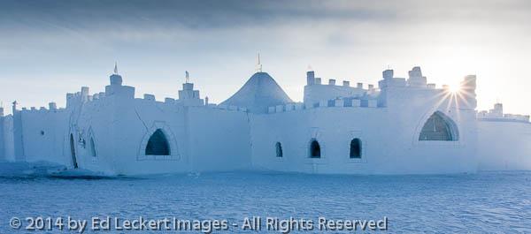 Front View of Snowking Snowcastle, Yellowknife, Northwest Territ