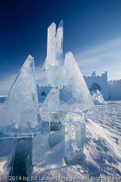 Ice Sculpture and Snowking Snowcastle, Yellowknife, Northwest Te