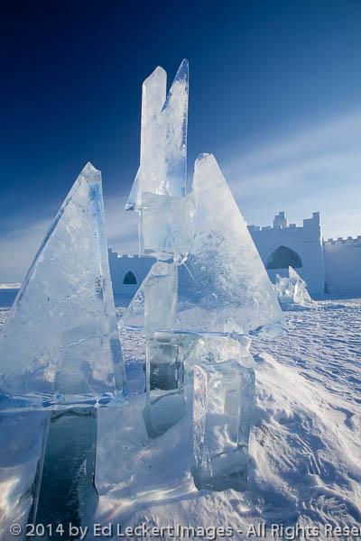 Ice Sculpture and Snowking Snowcastle, Yellowknife, Northwest Te