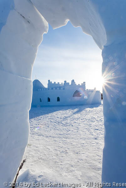Snowking Snowcastle from Snow Arch, Yellowknife, Northwest Terri