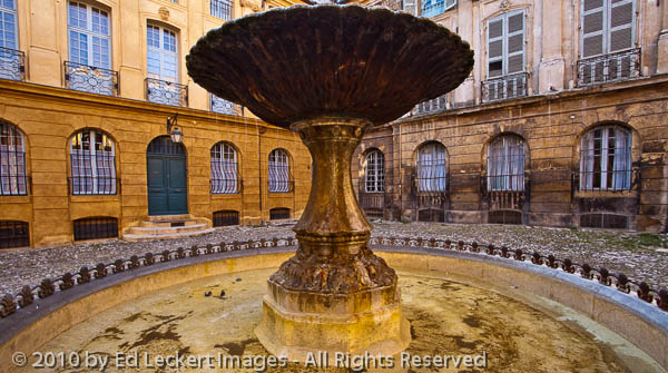 Old Fountain in Aix, Aix-en-Provence, France