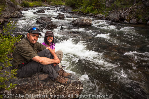 Ed and Janeen on the River, Omatilla National Forest, Oregon