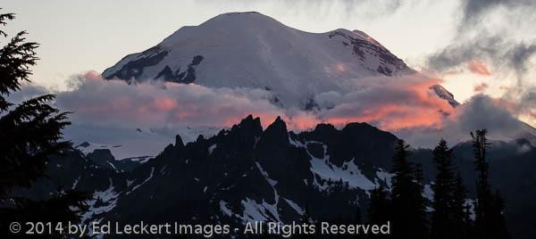 Last Light on Rainier, Mount Rainier National Park, Washington