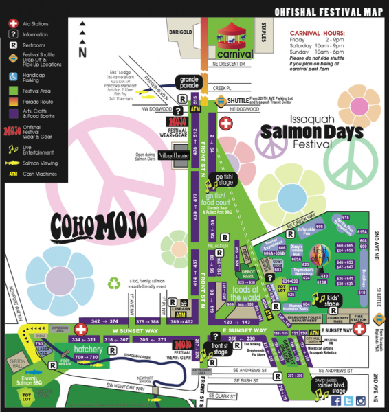Salmon Days 2014 Festival Map