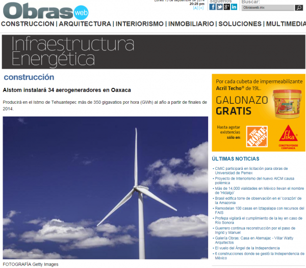 Oaxaca  Wind Turbine Project