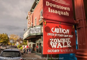 Caution, Zombie Walk, Issaquah, Washington