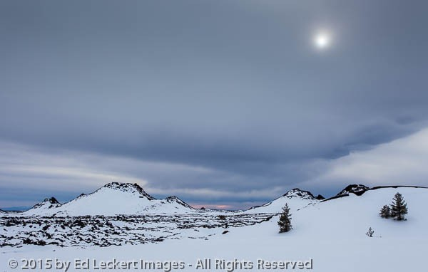 Barren Snowscape, Craters of the Moon National Monument, Idaho