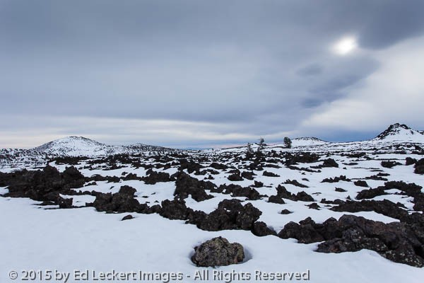 Barren Snowscape II, Craters of the Moon National Monument, Idaho