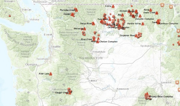 Northwest Large Fire Interactive Map