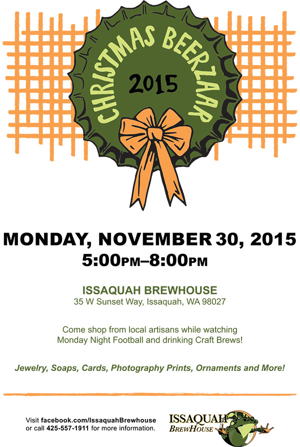 Issaquah Brewhouse Christmas Beerzaar Poster