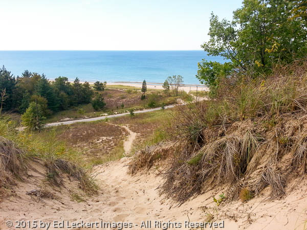 Lake Michigan from Indiana Dunes National Lakeshore, Indiana.