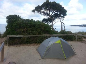 Campsite at Freycinet National Park, Tasmania, Australia