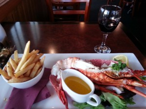 """Crayfish"" dinner at the Stanley Hotel, Stanley, Tasmania, Australia"