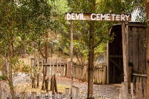 Devil Cemetery, Tasmanian Devil Unzoo, Tasmania, Australia