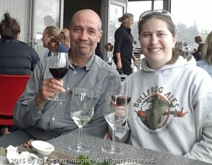 Ed and Kara, Bruny Island Premium Wines Bar and Grill, Tasmania,