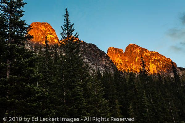 Last Light on Liberty Bell Mountain, Okanogan National Forest, W