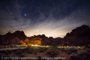 Desert Light Pollution, Valley of Fire State Park, Nevada