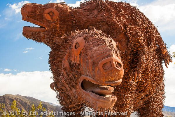 """Harlan's Ground Sloth"", by Ricardo Breceda, Borrego Springs, Ca"