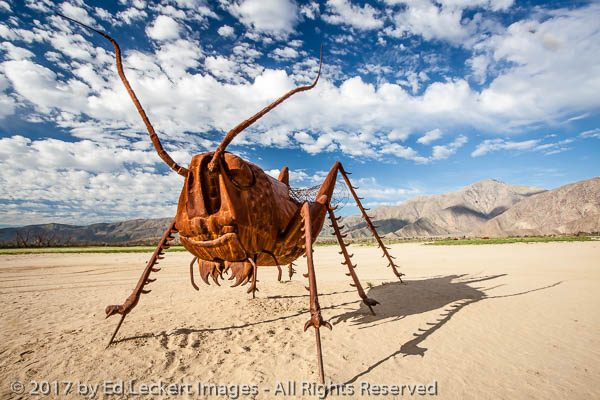 """Scorpion and Grasshoppers"", by Ricardo Breceda, Borrego Springs"