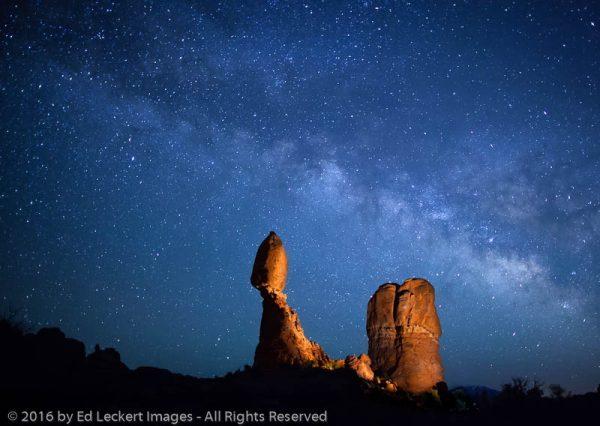 A Balanced Night, Balanced Rock, Arches National Park, Utah