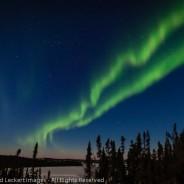 Aurora Over Prelude Lake, Northwest Territories, Canada