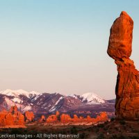 Balanced Rock and Turret Arch, Arches National Park, Utah