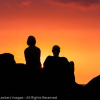 Couple Enjoying the Sunset, Ho'Okena Beach Park, Captain Cook, Hawaii