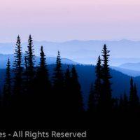 Distant Mountains, Mount Rainier National Park, Washington