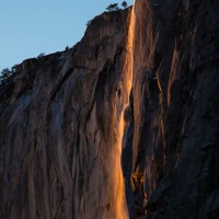 Horsetail Fall at Sunset, Yosemite National Park, California