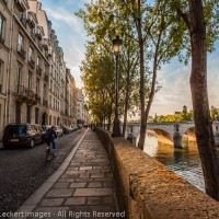 Morning on the Quai d'Anjou, Paris, France