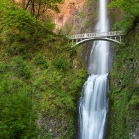Multnomah Falls at Sunset, Historic Columbia River Highway, Oregon